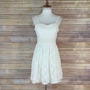 iZ Beyer white lace dress